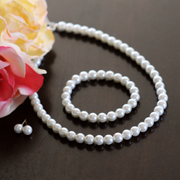 3 Piece Bridal Pearl Jewelry Collection
