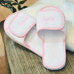 Terry Cloth Bride Spa Slippers