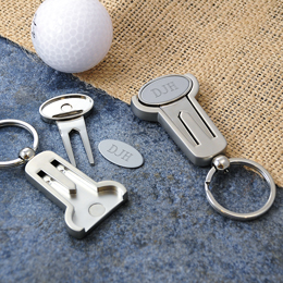 Multi-Function Golf Key Ring