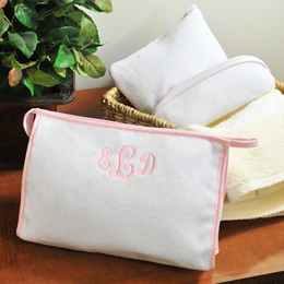 3-Piece Terry Cloth Cosmetic Bags