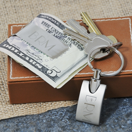 Keychain & Money Clip Gift Set