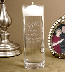Personalized Anniversary Floating Candle Vase