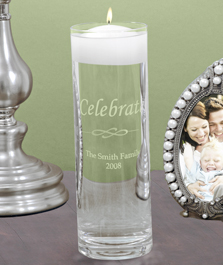 Personalized Celebrate Floating Candle Vase
