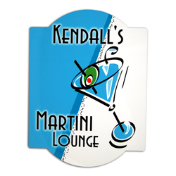 Blue Martini Bar Sign