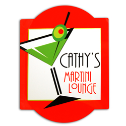 Red Martini Bar Sign