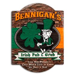 Irish Pub & Grub Bar Sign