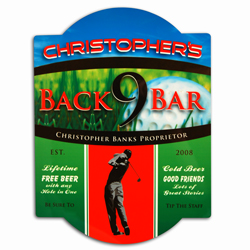 Golf Bar Sign