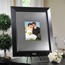 Contemporary Signature Picture Frame with Engraved Photo Mat