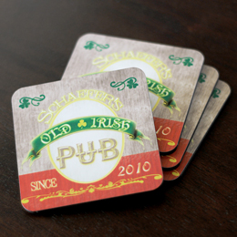 Irish Beer Coasters (Set of 4)