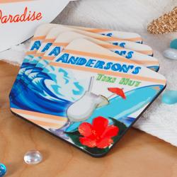 Tiki Bar Coasters (Set of 4)