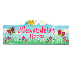 Butterfly Garden Kid's Sign