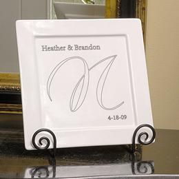 Elegance Square Platter & Easel Set