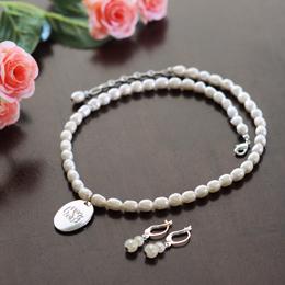Personalized Freshwater Pearl Pendant Jewelry Set
