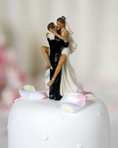 """""""Funny Sexy"""" African American Wedding Bride and Groom Cake Topper Figurine"""