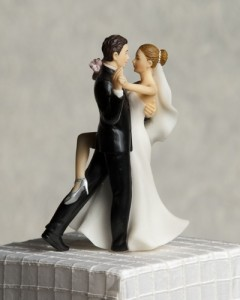 """Super Sexy Dancing"" Wedding Bride and Groom Cake Topper Figurine"