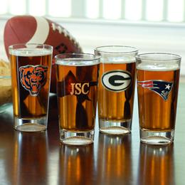 NFL Engraved Pint Glasses