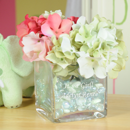 Baby Keepsake Glass Vase