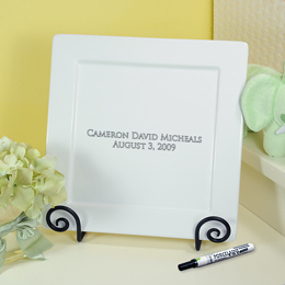 Baby's Personalized Signature Platter, Pen & Easel Set