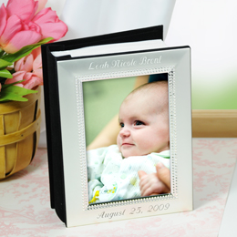 Beaded Baby Silver Photo Album