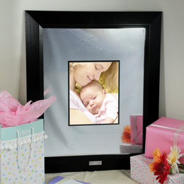 Baby's Signature Picture Frame with Engraved Photo Mat
