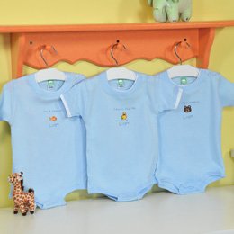 """""""It's a Boy!"""" Personalized Baby One-Piece (Set of 3)"""