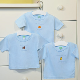 """It's a Boy!"" Personalized Baby T-Shirts (Set of 3)"