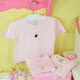 """It's a Girl!"" Personalized Baby T-Shirts (Set of 3)"