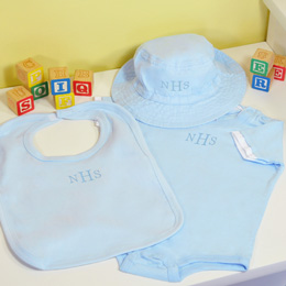 3pc. Personalized Baby Boy Gift Set