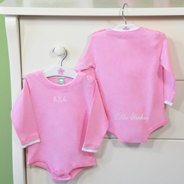 2 pc. Little Stinker Personalized Baby Girl One-Piece Set