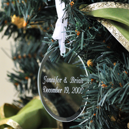 Personalized Oval Holiday Ornament