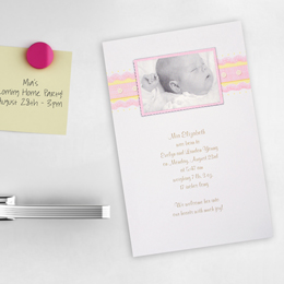 Baby Photo Magnet Announcement Kit in Pink