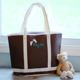 Personalized Baby All Occasion Tote Bag