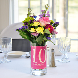 Numbered Vase Table Decoration