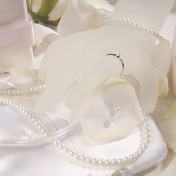 Traditional Pearl Flower Girl Jewelry Set
