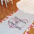Personalized Aisle Runners | Cathy's Concepts Wedding Decorations & Supplies