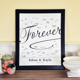 Forever Love Canvas Signature Guest Book