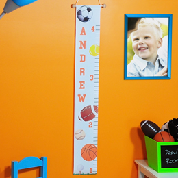 Sports Themed Growth Chart