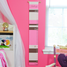 Pink Stripes Growth Chart
