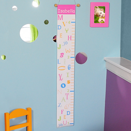Pink Alphabet Growth Chart