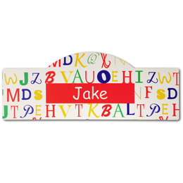 Red Alphabet Kid's Sign