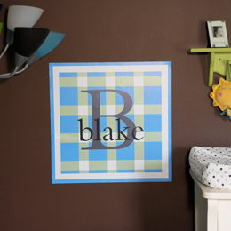 Preppy Plaid Wall Decal