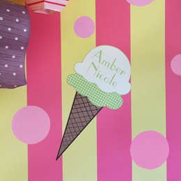 Ice Cream Cone Wall Decal
