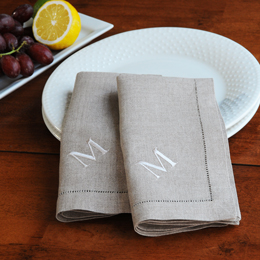 Linen Hemstitch Napkins (Set of 6)