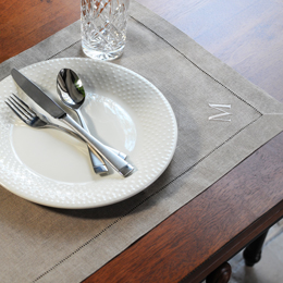 Linen Hemstitch Placemats (Set of 6)