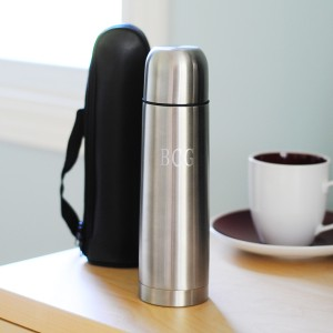 Stainless Steel Thermos with Carrying Case