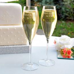 Luigi Bormioli Crystal Champagne Flutes