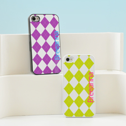 Argyle Personalized iPhone Cases