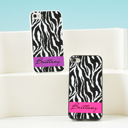 Zebra Print Personalized iPhone Cases