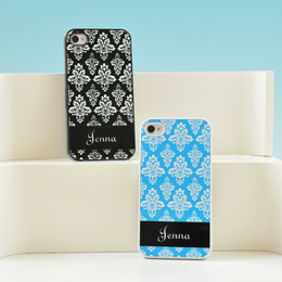 Damask Personalized iPhone Cases