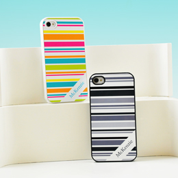 Happy Stripes Personalized iPhone Cases